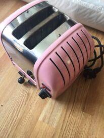 Pink retro Dualit 2 slice Toaster