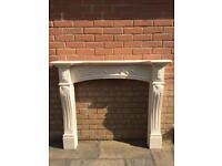 Decorative Marble effect Fire Surround