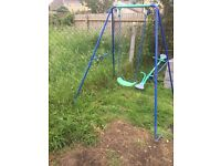 Swing and See saw for garden