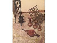 Fireplace accessories companion set cast iron