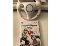 Mario Kart and Steering Wheel Wii