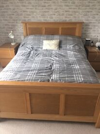 Double Bed with Memory Foam and Spring Mattress