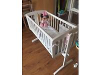 Mothercare White Swinging Crib