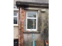 3 no PVC Anglian double glazed windows