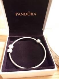 Pandora Bracelet & 2 charms