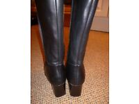 black leather boots size 5