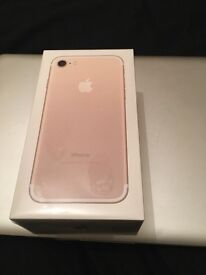 Apple Brand New boxed Rose iPhone 7s 128gb Unlocked
