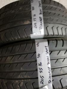 2 summer tires triangle 205/55r16