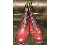 Women's Size 6 Blood Red Doc Martens