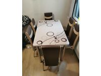 New Dining Table With Luxury Chairs Order Now Fast Cash On Delivery