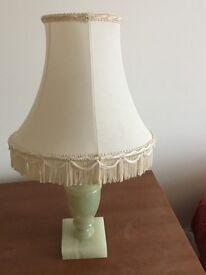 Green onyx table lamp