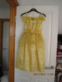 "BEAUTIFUL ""BELLE"" BEAUTY & THE BEAST DRESS for age 7-8 IMMACULATE! Great for Christmas"