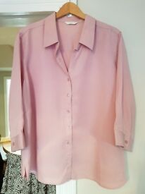 On-Trend millennial pink blouse M&S size 24