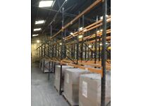 job lot 100 bays of link pallet racking ( storage , industrial shelving )
