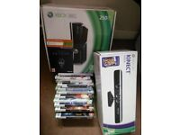 Xbox 360 with Kinect, 12 games and 250Gb Drive