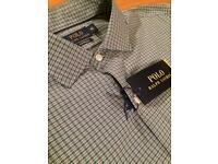 Ralph Lauren Performance Shirt. Brand new with tags. Size XL. Pit to pit 25 inches. Green check.