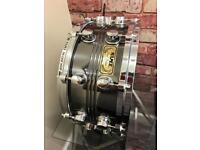 Mapex steel deluxe snare drum (black panther)