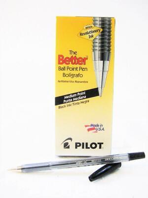 1-box Pilot Better Ball Point Stick Pen Black Ink One Dozen Pens 35711 New