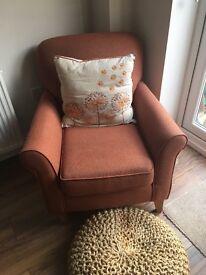 Next dark orange/red arm chair