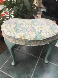 Vintage 1960's dressing table stool/seat project for restoration