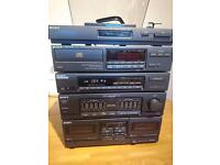 Sony HST-D301CD hifi system with turntable and speakers