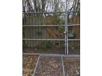 Pair of security gates & panels (15 ft 4'' x 7 ft 2'' )