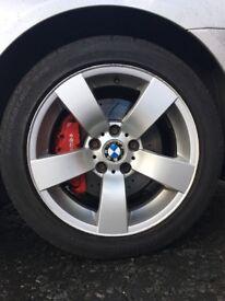 "Genuine BMW 17"" Alloys 4x Wheels & Tyres"