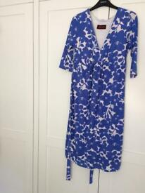 Tiffany Rose maternity wedding guest / party blue white dress. Size 3