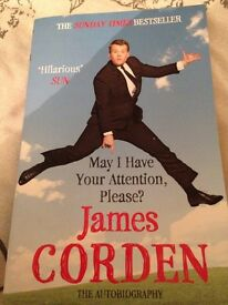 May I have your attention please James corden book