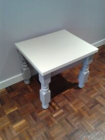 Solid pine table -hand painted white and grey