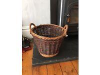 Log Wicker Basket