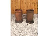 2no. Round chimney pots £40