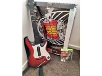 Xbox 360 guitar hero pack with warriors of rock