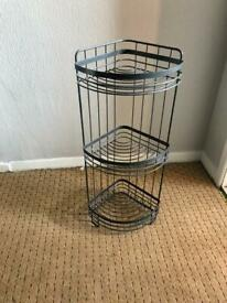 3 tier grey bathroom organiser three layers metal sturdy perfect condition