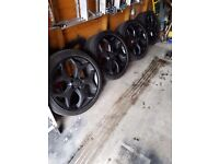 ford focus original factory black alloys 18 inch