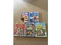 Shrek & Ice age DVDs