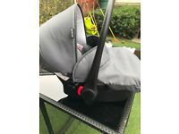 Car seat pram and pushair with all covers plus rain cover and changing bag