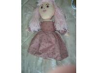 Handmade Dressed Rag Doll - Pink