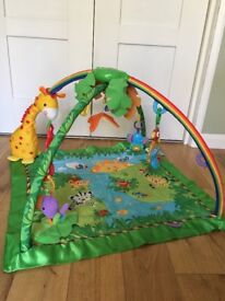 Fisher Price Rainforest Melodies & Lights Deluxe Baby Gym