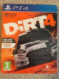 Dirt 4 ps4. Brand new and sealed one day edition