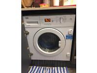 integrated beko washing machine 7kg drum 1600 rpm A+