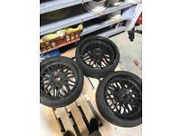 "4 19"" Deep Dish BMW wheels"