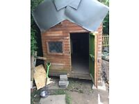 Metal shed and Wendy house