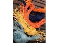 60 meters waxed polyester yarns in 6 colours