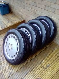 Mercedes (4) 15 inch rims and new tyres