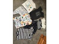Next baby boys 0-3 months bundle rompers & outfit set