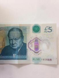 New £5 end with 888