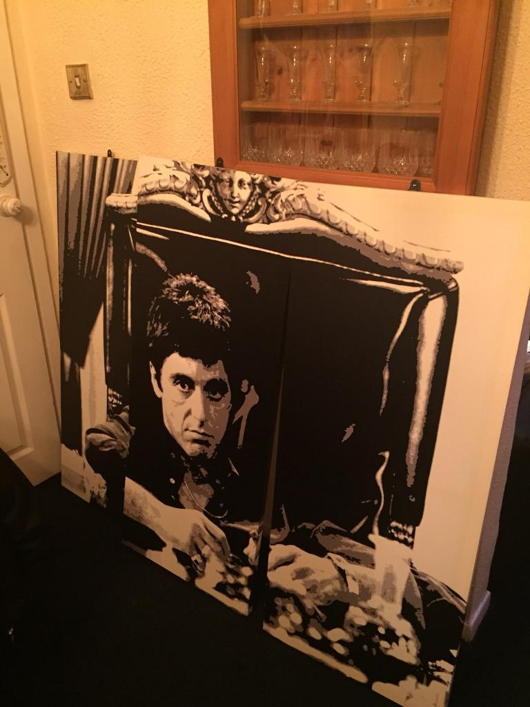 Large Trio of Canvasses, Scarface / Al Pacino