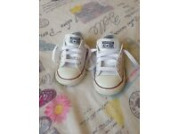 Infant size 6 leather converse