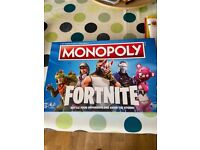 2 x monopoly games, one Star Wars the other Fortnite